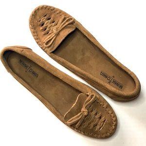 Minnetonka Soft Leather Moccasins Size 9